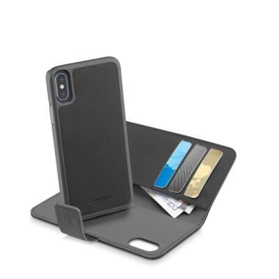 Cellularline tok, Combo , könyvszerűen nyitható tok + telefon tok ,  Iphone X