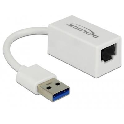 DELOCK Átalakító USB 3.0 to Gigabit LAN kompakt, fehér