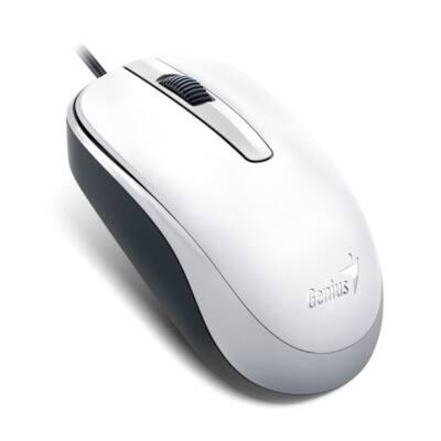 GENIUS Vezetékes egér optikai DX-120, USB, 1000dpi, Fehér