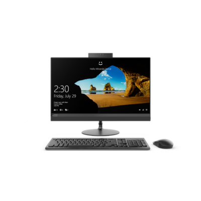 "LENOVO IdeaCentre AIO 520-24IKU, 23,8"" FHD NT, Intel Core i5-8250U, 8GB, 1TB HDD+128GB M.2 SSD, AMD R530-2, NO OS, Black"