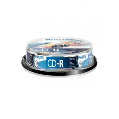 PHILIPS CD Lemez CD-R80 10db/Henger 52x